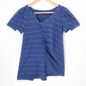 Marc by Marc Jacobs  asymetrical navy gold top S